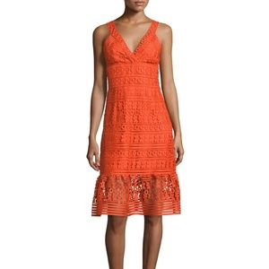 DVF Tiana fluted guipure lace dress